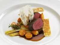 Venison Saddle with Fennel, Cape Gooseberries and Spice Bread