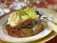 Venison Steak with Lingonberries recipe