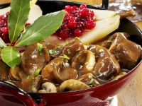 Venison Stew with Lingonberries and Pears recipe