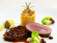 Venison Shoulder and Saddle with Sprouts recipe