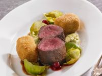Venison with Brussels Sprout Puree recipe