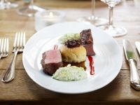 Venison with Fruit and Nut Crust