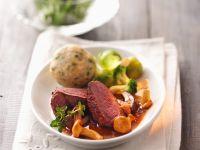 Venison with Mixed Mushrooms recipe