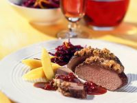 Venison with Nut Crust recipe