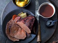 Game Meat Roast with Pasta Dumplings recipe