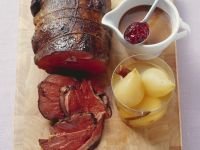 Venison with Spiced Pears recipe