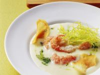 Vichyssoise with Crayfish Tails recipe