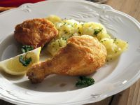 Viennese Style Backhendl (Chicken) with Potatoes recipe