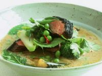 Vietnamese Style Beef with Curried Vegetables and Herbs recipe