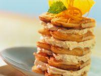 Waffle Cake with Orange Cream recipe