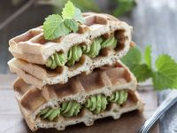Waffles with Apple Cream Filling recipe