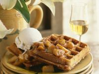 Waffles with Caramel Apples recipe