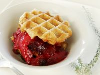 Waffles with Fruit Compote recipe