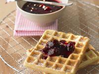 Waffles with Sour Cherry Jam recipe