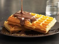 Waffles with Spiced Chocolate Sauce recipe