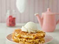 Waffles with Vanilla Ice Cream recipe