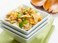Walnut and Spring Onion Farfalle recipe