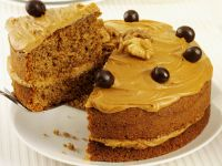 Walnut Coffee Cream Cake recipe