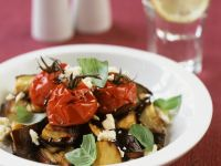 Warm Aubergine and Cherry Tomato Salad recipe