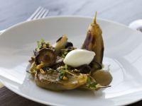Warm Aubergine and Mushroom Salad recipe