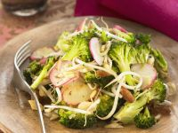 Warm Broccoli Salad recipe