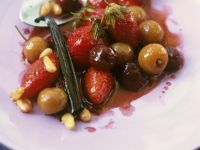 Warm Strawberry and Cherry Salad recipe