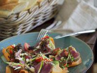 Warm Tangy Beef Salad recipe