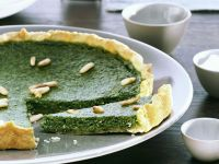 Watercress and Pine Nut Tart recipe