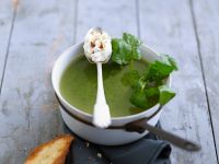 Watercress and White Wine Soup with Gorgonzola Cream recipe