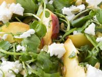 Stone Fruit with Cheese and Leaves recipe