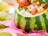 Watermelon Filled with Fruit Salad recipe