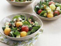 Watermelon Salad with Herbs and Mozzarella recipe