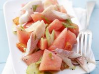 Watermelon Salad with Smoked Trout recipe