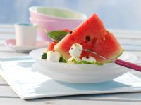 Watermelon with Mozzarella and Basil recipe