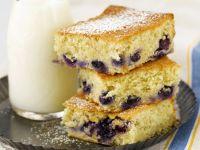 Wheat-free Blueberry Traybake recipe
