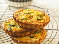 Wheat-free Courgette and Cheddar Tarts recipe
