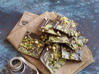 White and Dark Chocolate Pistachio Bark recipe