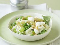 White Asparagus and Pine Nut Risotto recipe