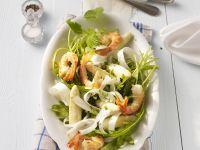 White Asparagus Salad with Shrimp recipe