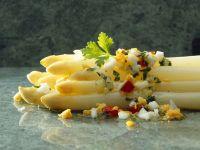 White Asparagus with Egg Dressing recipe