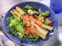 White Asparagus with Gravlax recipe