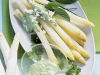 White Asparagus with Green Sauce recipe