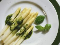 White Asparagus with Herb Oil recipe