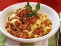 White Bean Ribbon Pasta Dish recipe