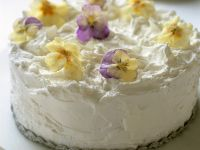White Cake with Candied Flowers recipe