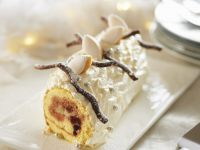 White Chocolate Christmas Roulade