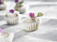White Chocolate Confections with Violet and Mint recipe