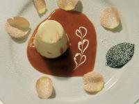 White Chocolate Cream with Rose Petals