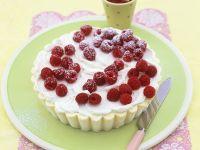 White Chocolate Ice Cream Cake with Raspberries recipe