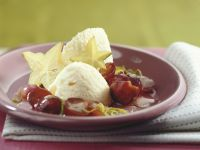 White Chocolate Mousse with Red Grapes recipe